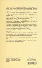 Souvenirs 1804-1815 - 4ème de couverture - Format classique