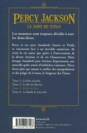 Percy Jackson t.3 ; le sort du titan - 4ème de couverture - Format classique