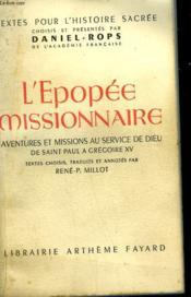 L'Epopee Missionnaire. - Couverture - Format classique