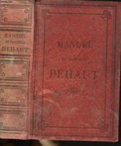 Manuel Du Docteur Dehaut - Couverture - Format classique
