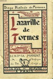 Aventures De Lazarille De Tormes Ecrites Par Lui-Meme. - Couverture - Format classique