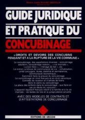 Guide Juridique Et Pratrique Du Concubinage - Couverture - Format classique