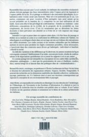 La Societe Des Voisins ; Partager Un Habitat Collectif - 4ème de couverture - Format classique