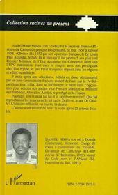 Andre-Marie Mbida, Premier Premier Ministre Camerounais, 1917-1980 - 4ème de couverture - Format classique