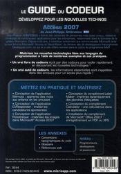 Microsoft Access 2007 - 4ème de couverture - Format classique