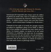 365 méditations sur les chemins de Compostelle - 4ème de couverture - Format classique