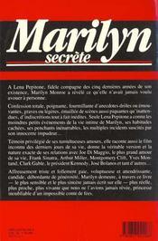 Marilyn Secrete - 4ème de couverture - Format classique