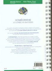 Homeopathie - 4ème de couverture - Format classique