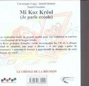 Mi koz kreol ; je parle creole - 4ème de couverture - Format classique
