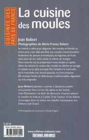 La Cuisine Des Moules/Poche - 4ème de couverture - Format classique