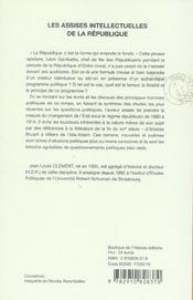 Les Assises Intellectuelles De La Republique ; Philosophies De L'Etat, 1880-1914 - 4ème de couverture - Format classique