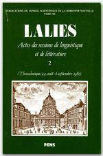 Revue Lalies N.2 - Couverture - Format classique