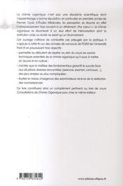 La chimie organique se met à table ; annales de l'université de Paris VI - 4ème de couverture - Format classique