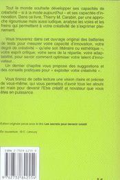 Secrets Pour Devenir Creatif Poche - 4ème de couverture - Format classique
