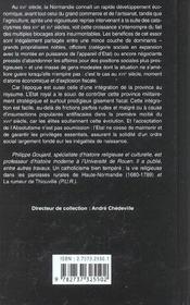 La Normandie au XVI et XVII siècles ; face à l'absolutisme - 4ème de couverture - Format classique