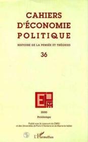 Cahiers D'Economie Politique ; Histoire De La Pensee Et Theories - Couverture - Format classique