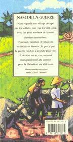 Nam la guerre - 4ème de couverture - Format classique