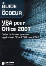 VBA pour Microsoft Office 2007 - Intérieur - Format classique