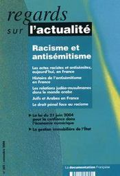 Racisme Et Antisemitisme En France  - Collectif