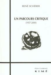 Un Parcours Critique (1957-2000) - Intérieur - Format classique