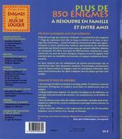 Énigmes et jeux de logique (édition 2007) - 4ème de couverture - Format classique