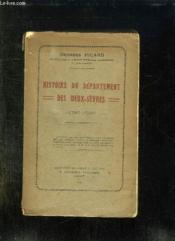 Histoire Du Departement Des Deux Sevres 1790 - 1927. - Couverture - Format classique