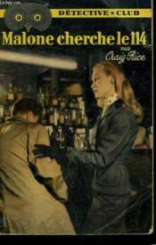 Malone Cherche Le 114. Collection Detective Club N° 85 - Couverture - Format classique