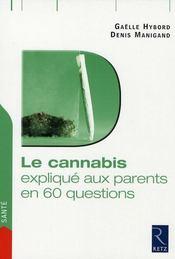 Le cannabis en 60 questions - Intérieur - Format classique