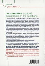 Le cannabis en 60 questions - 4ème de couverture - Format classique