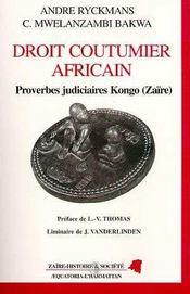 Droit Coutumier Africain - Intérieur - Format classique