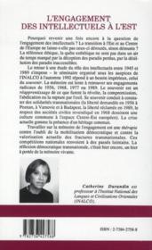 L'engagement des intellectuels à l'Est ; mémoires et analyses de Roumanie et de Hongrie - 4ème de couverture - Format classique