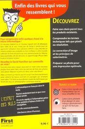 La Photo Numerique Pour Les Nuls - 4ème de couverture - Format classique