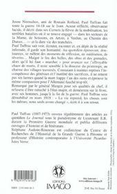 1914-1918 Quatre Annees Sur Le Front - 4ème de couverture - Format classique