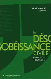 La désobéissance civile - Couverture - Format classique