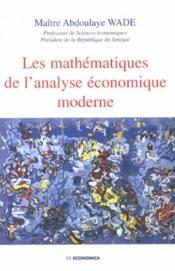 Mathematiques de l'analyse economique moderne - Couverture - Format classique