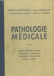 Pathologie Medicale. Tome 3. - Couverture - Format classique