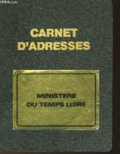 Carnet D'Adresse - Couverture - Format classique