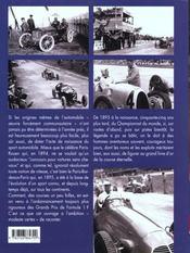Les Precurseurs De La Formule 1 T.6 - 4ème de couverture - Format classique