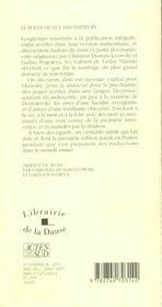 Cahiers - le sentiment - 4ème de couverture - Format classique