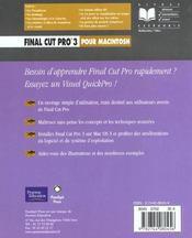 Peachpit Final Cut Pro 3 - 4ème de couverture - Format classique