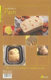 Machine à pain - 4ème de couverture - Format classique
