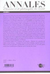 Les Annales D'Histoire Et De Philosophie Du Vivant, N 6, Les Maladies De L'Ame Et Du Cerveau - 4ème de couverture - Format classique