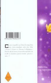 Persona t.1 - 4ème de couverture - Format classique