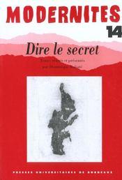 Dire Le Secret - Intérieur - Format classique