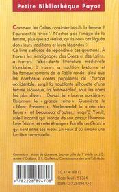 La Femme Celte - Pbp N 108 - 4ème de couverture - Format classique
