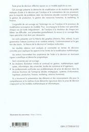 Aide A La Decision Une Approche Par Les Cas Gestion Mathematiques Informatique - 4ème de couverture - Format classique
