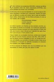 Chimie dissèquée à l'usage des bio ; bcpst/veto ; 2e année - 4ème de couverture - Format classique