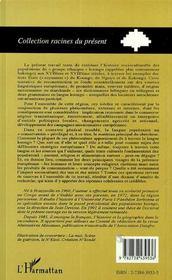 Langues, Culture Et Histoire Koongo Aux Xvii Et Xviii Siecles - 4ème de couverture - Format classique
