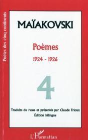 Poèmes t.4 ; 1924-1926 - Couverture - Format classique