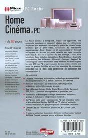 Home Cinema Et Pc - 4ème de couverture - Format classique